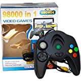 mQFIT 98000 in 1 Video Games Plugs Into Any Tv for Instant Gaming||Game System Comes with 98000 Built-in Game||Requires No Expensive Game Console||VG1_3 (98000 Handle)