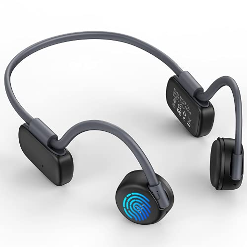 Cuffie Bluetooth 5.2 Auricolari Senza Fili Conduzione Ossea, Impermeabile per Nuotare, 26g Cuffie Conduzione Ossea con Doppio Microfono Integrato, 16.5mm Altoparlante Ultra Sottile