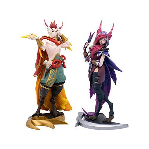 para Liga de Legends Game Figuras, LOL Series Sculpture: Xayah/Rakan (XL), Modelos de Resina exquisitos y Frescos, Colecciones Estatua de Escritorio o gabinetes de visualización
