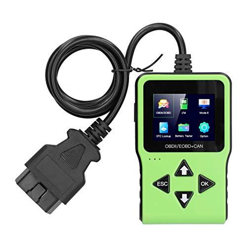 Fydun Detector de automóvil OBD, escáner automotriz OBD Detector de fallas de Lectura de código de automóvil Pantalla a Color TFT de 2,4 Pulgadas Herramienta de diagnóstico de Lectura y borrado