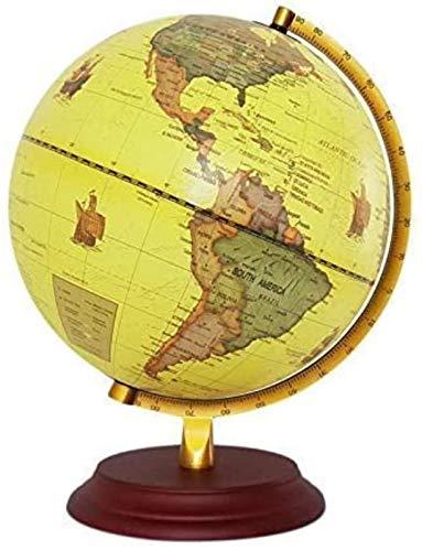Globo de 25 cm mapa de la Tierra Mundial Geografía para la Decoración de Escritorio Educación Hogar Oficina Ayuda Miniaturas Niños Regalo