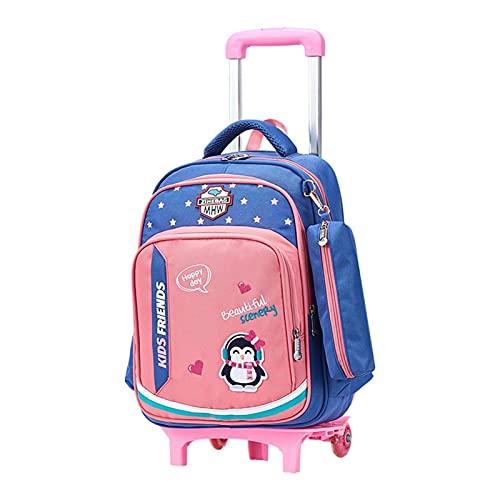 FBSSD Mochila con ruedas para niños, impermeable, mochila escolar, mochila grande de almacenamiento, mochila para exteriores, impermeable, extraíble portátil para niños de 6 a 12 años (color A1)