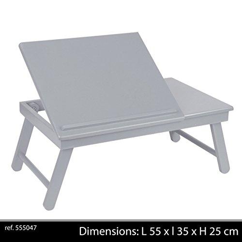 Plateau Pliable, Plastique, Gris, 55x35x25 cm