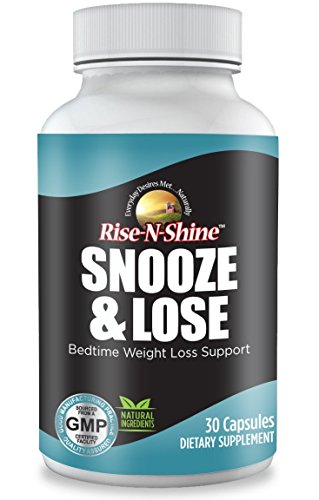 Snooze and Lose Nighttime Weight Loss Pills for Women and Men for Bedtime Weight Loss Support 30 Count
