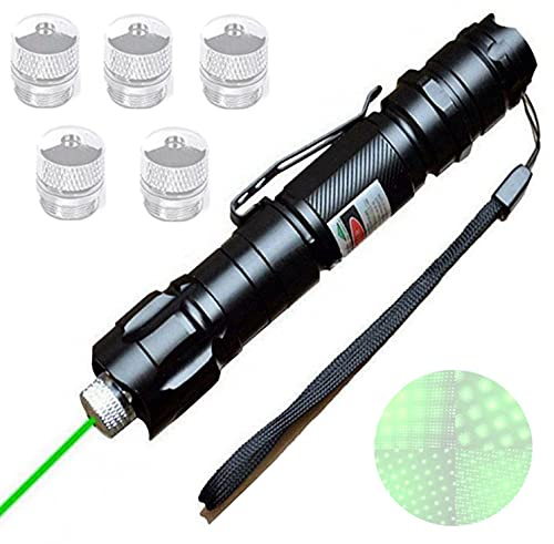 Green Pointer - Hunting Green Beam Led Tactical Flashlight,Handheld Rechargeable with A Variety of Beam Effects,High Power Green Beam Flashlight,Pet Interactive Beam Pen,Camping,Hunting