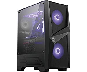 MSI MAG FORGE 100M Mid-Tower Caja de PC Gaming 2 x 120 mm RGB + 1 x 120 mm Ventiladores Incluidos Panel Cristal Templado, ATX, mATX, Mini-ITX Color negro