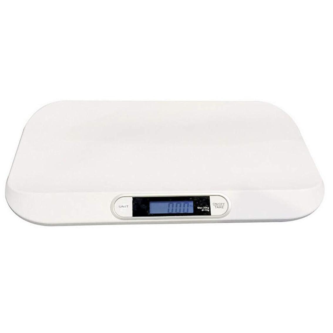 比べる迷信目立つHSBAIS デジタル電子ベビースケール、多機能新生児体重計 ペットスケール、最大容量20 kg / 44ポンド精密10g,white