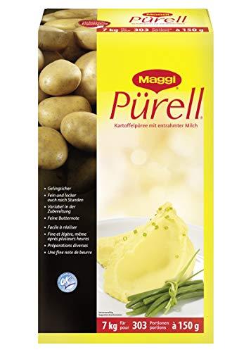 Maggi Pürell Kartoffelpüree (mit entrahmter Milch, authentische Stampfkartoffeln mit feiner Butternote) 1er Pack (1 x 7kg Karton)
