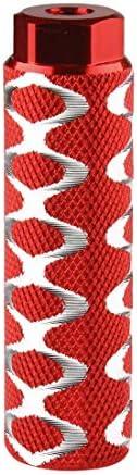 ZONSUSE P/édales Antid/érapantes en Alliage daluminium pour BMX Cale/Pied/Velo,Pegs BMX,P/édale de V/élo,Pegs VTT,Pegs Velo v/élo Pegs,Repose-Pieds Cylindriques pour V/élos BMX