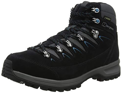 Berghaus Explorer Trek Gore-Tex Tech, Chaussures de Randonnée Basses Femmes, Bleu (Navy/Grey N10), 41.5 EU