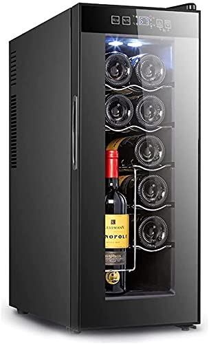 FREEZYMAN Independent Wine Cellar, 10-Bottle Wine Cooler, Temperature-Controlled Wine Refrigerator, Small Household Ice Bar, Electronic Refrigeration (Color : Black, Size : 255063.5cm)