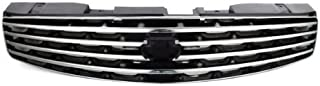 CarPartsDepot, Front Grille Grill Chrome Frame Painted Black Grid, 400-231283 IN1200107 62070AM800