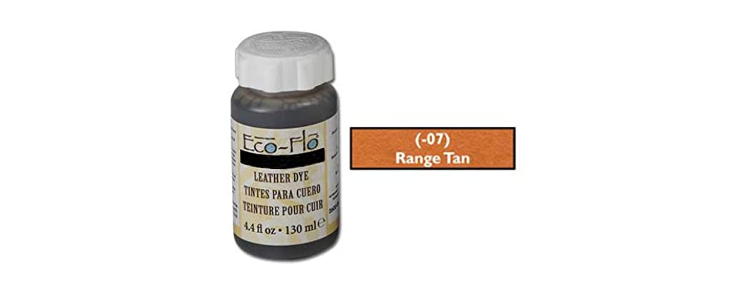 Tandy Leather Eco-Flo Leather Dye 4.4 fl. oz. (132 ml) Range Tan 2600-07