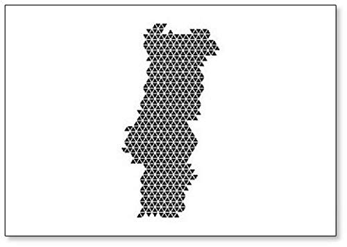 Portugal Map Abstract Map Koelkast Magneet