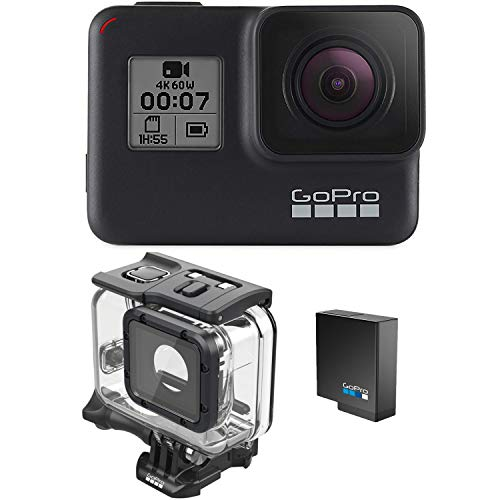 GoPro HERO7 Black + Extra Battery + Super Suit Dive Housing Case -...