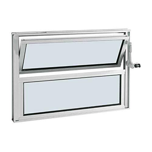 Janela Basculante Alumínio Sasazaki 40cmx60cmx3,3cm Branco