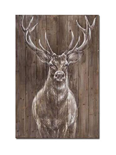 WOWDECOR - Lienzo decorativo para pared, diseño de animales de ciervos, decoración de pared para el hogar, sala de estar, dormitorio, marco de bricolaje (tamaño grande)
