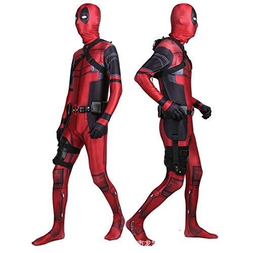 Manlin Deadpool Costume for Adult/Kids Unisex Superhero Lycra Spandex Zentai Halloween Cosplay Costumes 3D Style