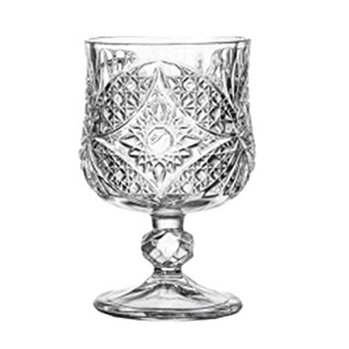 YKW Copa Creativa Copa de Vino Champagne Whisky Bordeaux Drinkware Coplet Tazas de Vidrio talladas Taza de cóctel Taza de Boda Taza