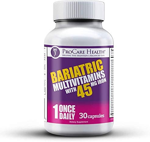 Bariatric Once-A-Day Multivitamin, 45mg Iron - 30 Ct Capsule- Designed for Patients Post Weight Loss Surgery