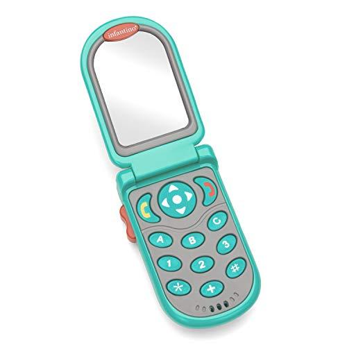 Infantino Flip and Peek Fun Phone, Teal
