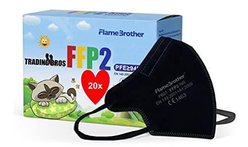 Trading Bros 20x Flamebrother FFP2 Maske Kleine Größe Mini Size by