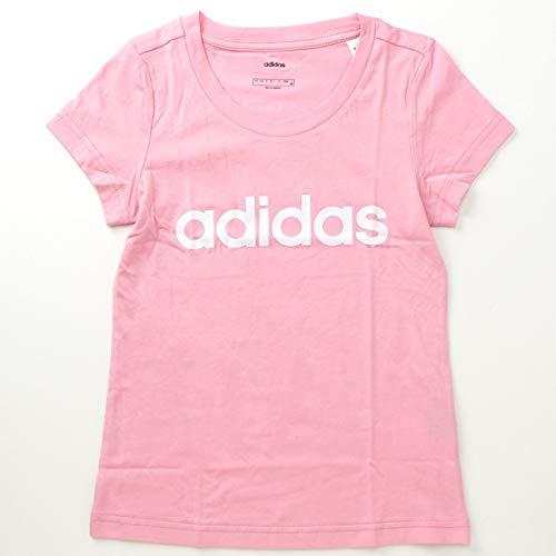 adidas Camiseta Essentials Linear para niña, Niñas, Camiseta, DV0363, Rosa (True Pink/White), 6-7A