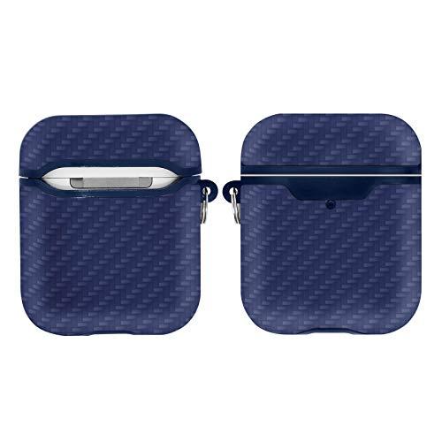 AKASHI TECHNOLOGY - Coque Compatible AirPods Étui Protecteur Compatible pour AirPods 1 & AirPods 2, Coque de Protection (Carbon Bleu)