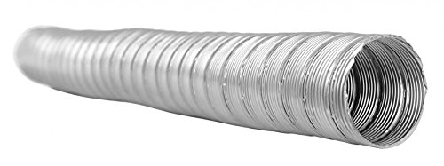 1 Meter flexibles Edelstahlrohr DN 120 mm doppelwandig Kamin-/Ofenrohr Schornsteinsanierung