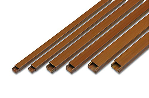 Famatel - Minicanal marron apertura 7x12 autoadhesivo tira 2m