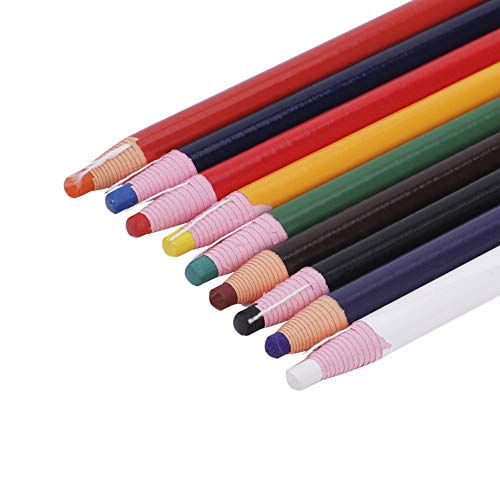9pcs Peel-off China Markers Grease Wax Pencils Crayons Pencils Marker Colorful Drawing Art Pencils for Wood Garment Metal Fabric Paper