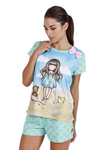 SANTORO Pijama Manga Corta Hello Summer para Mujer