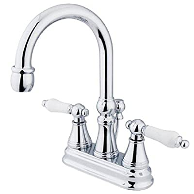Madison Centerset Bathroom Faucet with Porcelain Lever Handles