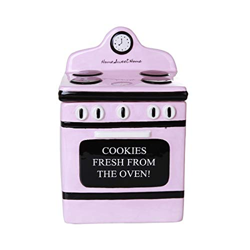 Pacific Giftware Retro Oven Freshly Baked Ceramic Cookie Jar with Air Tight Lid 8 inch Tall