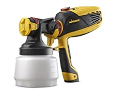 X-Boost power dial with 9 settings for various coatings & precise control iSpray nozzle for walls and siding 1-1/2 Qt cup covers up to a 10 Ft. x 12 Ft. wall in one fill also comes with Detail Finish Nozzle - for small projects & a smooth finish Mate...