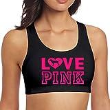 Victoria Secret Love Pink Dog Heart Yoga Vest Sport Bra Top Vest for Yoga Running Gym Workout Fitness