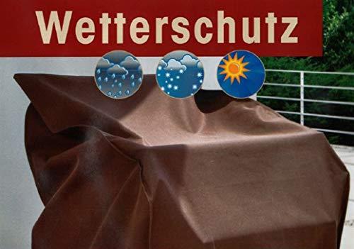 Garvida Schutzhülle aus beschichtetem Polyestergewebe in braun für eine 3 Sitzer Gartenbank, 160 x 75 cm, 85 cm Höhe, 842305