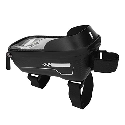 Bolsa de bicicleta para teléfono móvil Cremallera impermeable presionada Bloquea eficazmente la bolsa de bicicleta EVA ligera Bolsa de almacenamiento de bicicletas para actividades al aire
