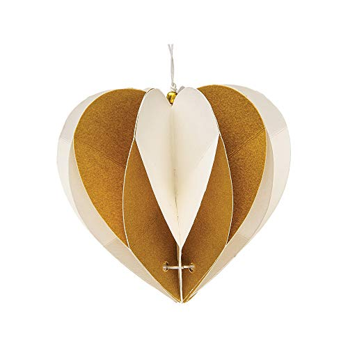 Luna Bazaar Jordon Design Origami Ornament (3.25-Inch, Gold...