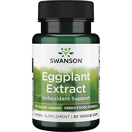 Swanson Eggplant Extract 20:1 450 Milligrams 30 Veg Capsules
