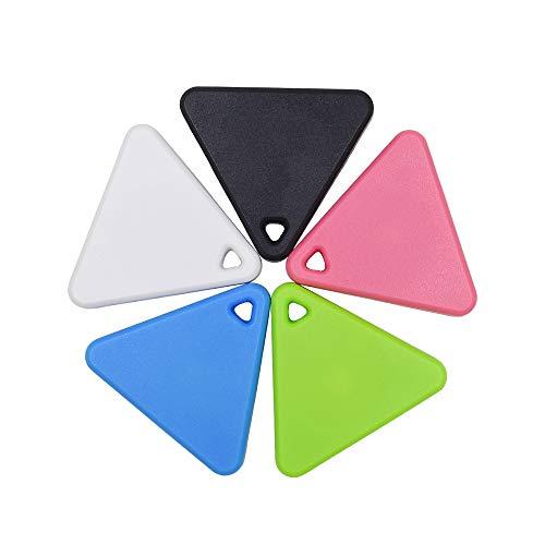 JASZW 5 Piezas Buscador de Llaves Monedero Perro Gato Niños Localizador GPS Anti Llavero perdido Búsqueda Inteligente Rastreador Bluetooth Etiqueta itag Keyfinder