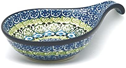 Polish Pottery Spoon/Ladle Rest - Tranquility