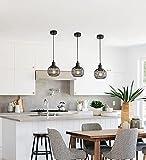 DAXGD Lámpara de techo de metal industrial para dormitorio, comedor, cocina, Araña industrial E27