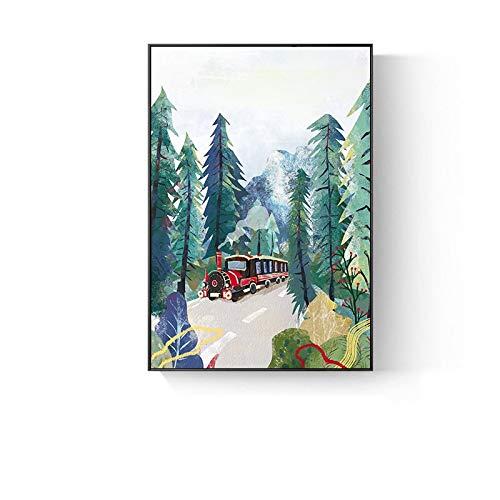 Moderne cartoon olieverfschilderij linnen kunst olieverfschilderij cadeau decoratie woonkamer wanddecoratie schilderij frameloos schilderij 40x60 cm