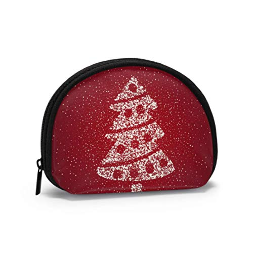 Cute Coin Pouch for Women Elegant Christmas Tree Icon Symbol Coin Purse with Zipper Coins Pouch with Zipper Mini Cosmetic Makeup Bags for Women Girls Party Gifts and Decorations