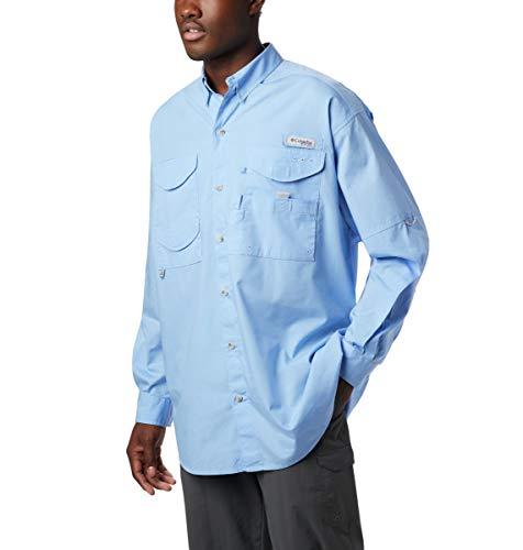 Columbia Men's PFG Bonehead II Long Sleeve Shirt, Cotton, Relaxed Fit, Medium, White Cap