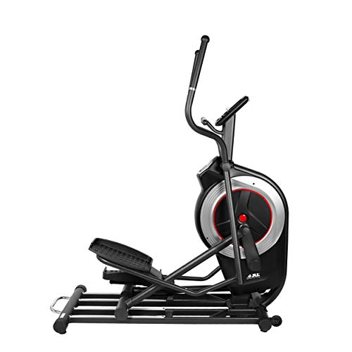 JLL CT600 PRO Elliptical Cross Trainer, 2020 Electronic Magnetic Resistance, Cardio, 6KG One Way Flywheel, Console Display with Heart Rate Sensor and Tablet Holder