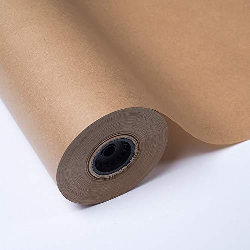 PAKOT Rollo papel Kraft Marrón Bobina 70 cm x 50 metros