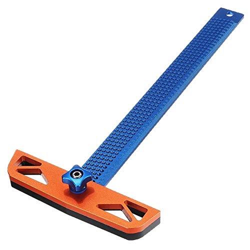 Transportador de ángulos profesional, Tratamiento de la madera regulable Ángulo T Regla agujero de colocación cruzada de gramil Scriber herramienta de medición 300 / 400mm Para medición de carpintería