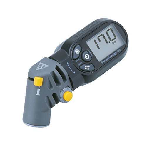 TOPEAK SmartGauge D2 Digital Manometer SmartHead Reifendruck Prüfer Presta Schrader 17 Bar, 15712000